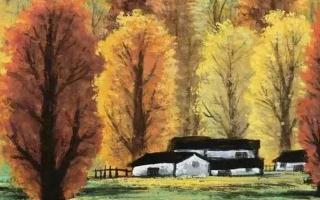 吴冠中与林风眠 笔下的秋色